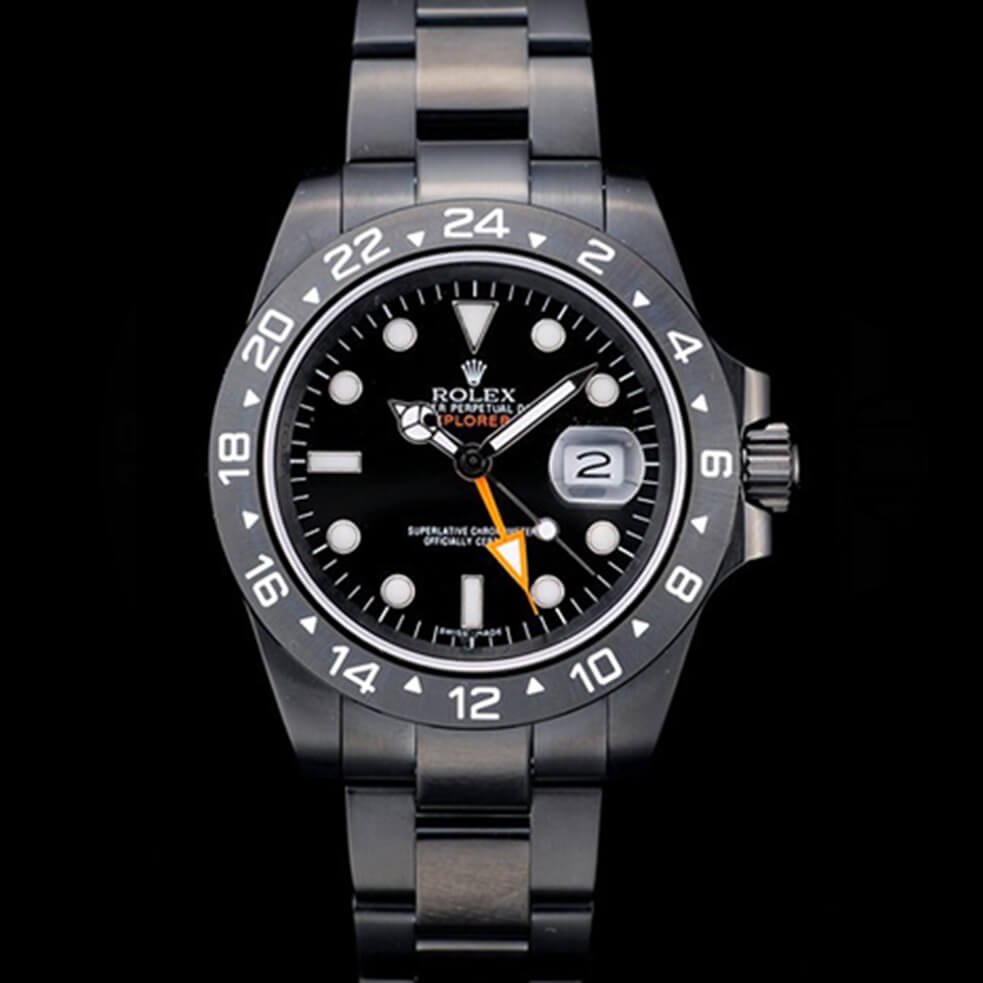 Rolex Replica Explorer Mens Automatic Ion-Plated Stainless Steel Case RE005
