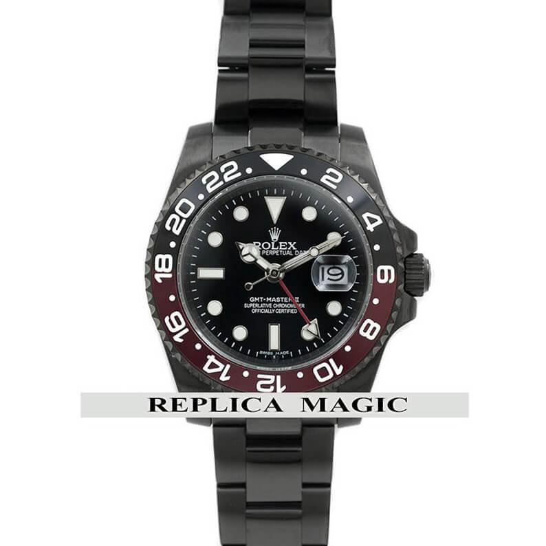 Rolex Replica GMT-Master II 116710 'Coke' in PVD Black