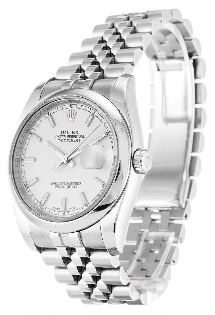 Simple Rolex Replica Datejust 116200 36mm White Dial bracelet