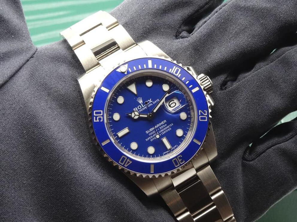 "Top Rolex Submariner 116619LB ""Smurf"" Blue Ceramic White Gold2"