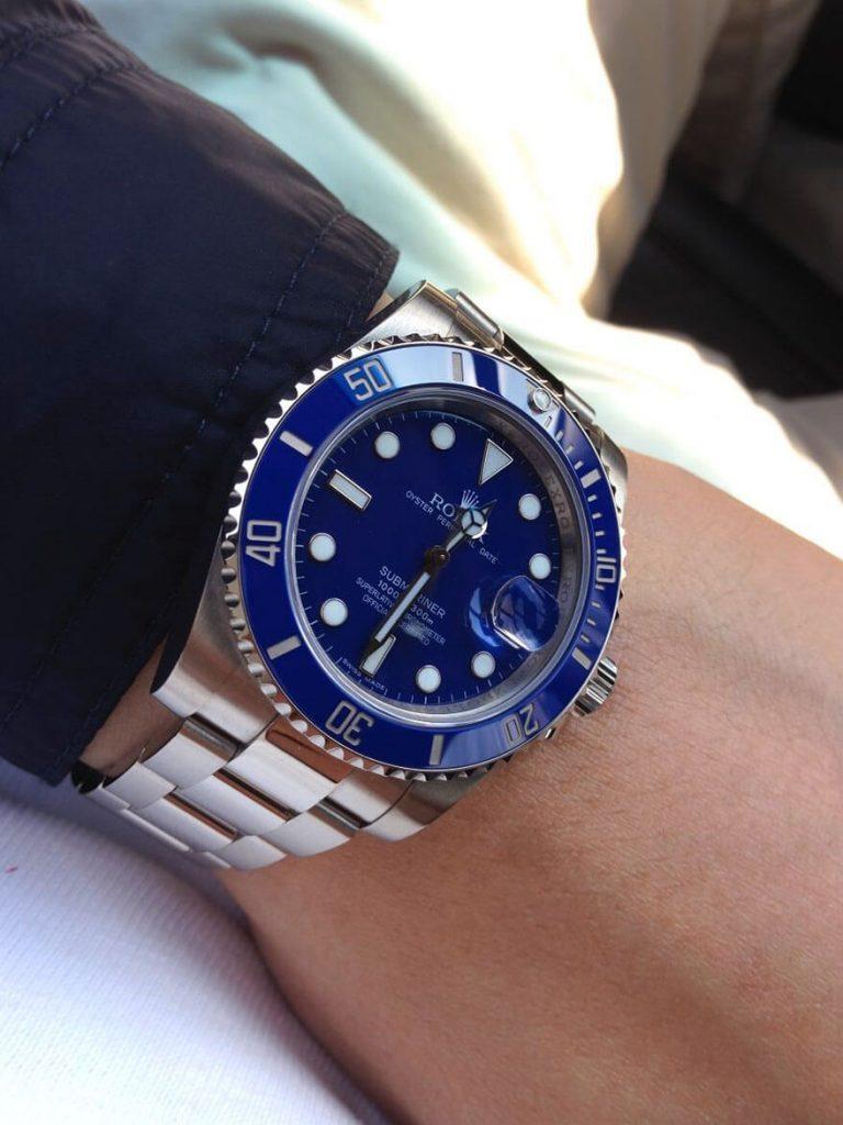 "Top Rolex Submariner 116619LB ""Smurf"" Blue Ceramic White Gold3"