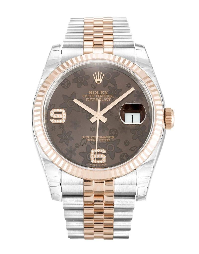 Fake Rolex Datejust 116231 Chocolate Dial
