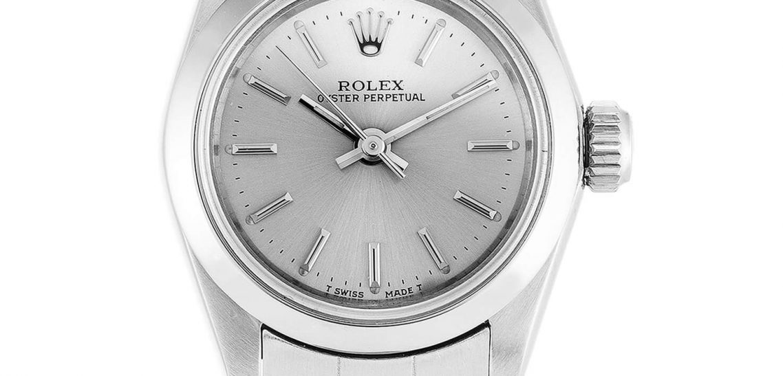 Lady Rolex Replica Oyster Perpetual 67180 26mm Silver Dial
