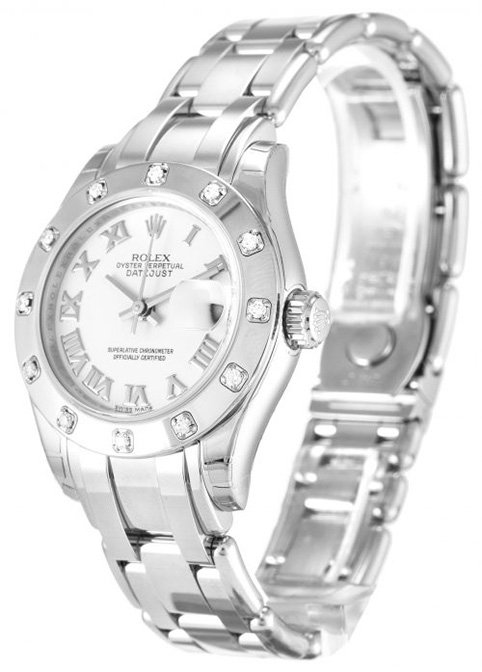 Replica Rolex Watch Pearlmaster 80319 White Dial