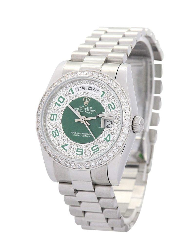 Rolex Replica DayDate 118346 36mm Silver Dial