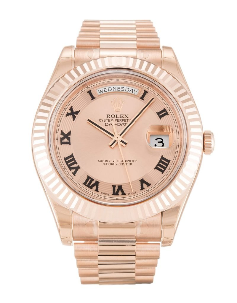 Rolex Replica DayDate 218235 41mm Rose Gold Dial