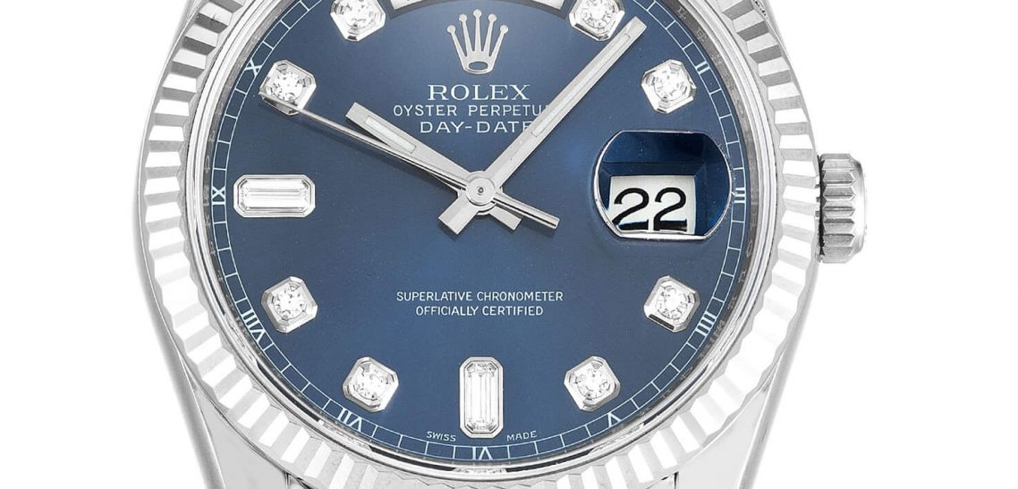 Rolex Replica Day-Date 118139 with Blue Dial