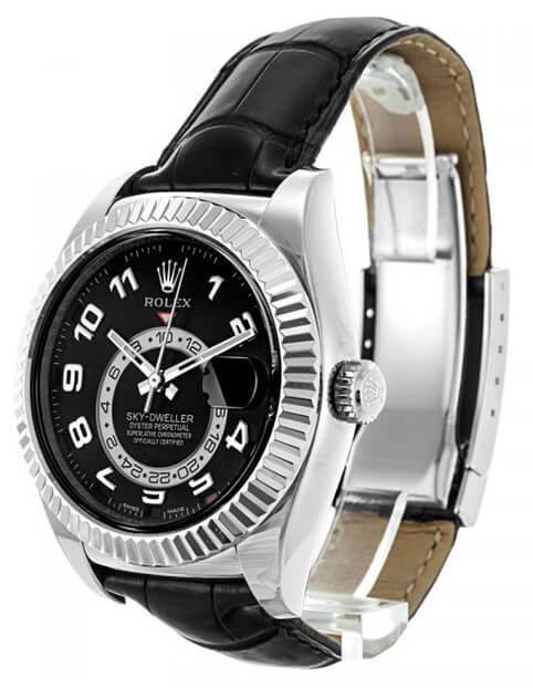 Rolex Replica Sky-Dweller 326139 Black Dial