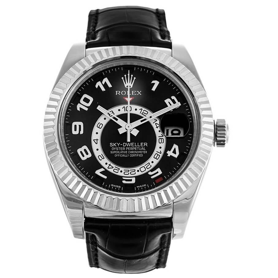 Replica Rolex Sky-Dweller 326139 Black Dial